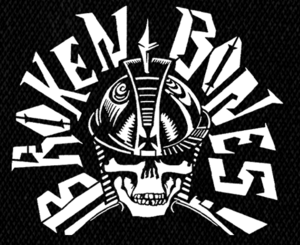 """Broken Bones - Warrior Skull 5x5""""  Printed Patch"""