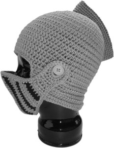 Knit Hat - Medieval Helmet with Visor