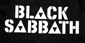 "Black Sabbath - Logo 6x3"" Printed Patch"