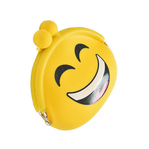 Smiling Face Yellow Silicone Purse