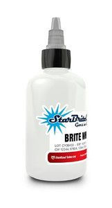Starbrite Colors - Brite White 1/2 Ounce Tattoo Ink Bottle