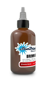 Starbrite Colors - Brown Sienna 1/2 Ounce Tattoo Ink Bottle