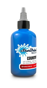Starbrite Colors - Country Blue 1/2 Ounce Tattoo Ink Bottle