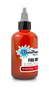 Starbrite Colors - Fire Orange 1/2 Ounce Tattoo Ink Bottle