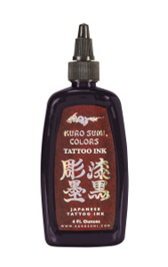 Kuro Sumi Ink - Eggplant Black 1 & 1/2 Ounce Tattoo Ink Bottle
