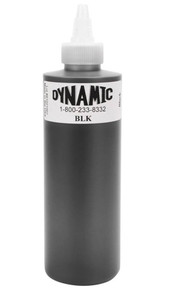 Dynamic Ink - Black 8 Ounce Tattoo Ink Bottle