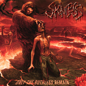 "Skinless - Only The Ruthless Remain 4x4"" Color Patch"