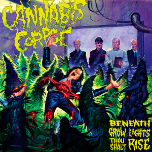 "Cannabis Corpse - Beneath Grow Lights Thou Shalt Rise 4x4"" Color Patch"