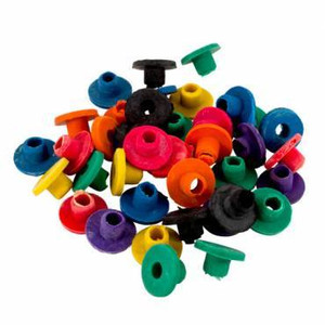 100 Rubber Nipples for Tattoo Machines