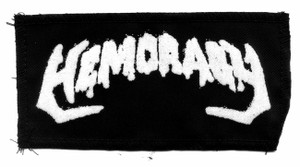 "Hemoragy - Logo 4x7"" Printed Patch"