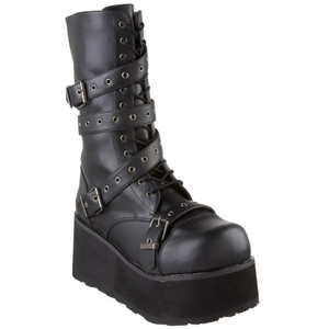 "3 1/4"" Wrap-Around Strap Unisex Boots by Demonia"