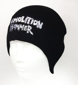 Knit Beanies with Band Logo - Demmolition Hammer