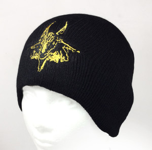 Bathory Goat Embroidered Knit Beanie