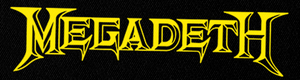 "Megadeth - Logo 6x2"" Printed Patch"
