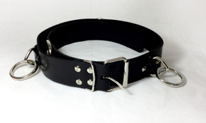 Leather Belt with O Rings