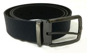 Blue Engraved Belt