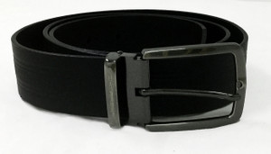 Black Texturized Belt