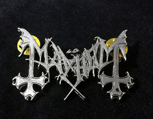 "Mayhem - Logo 2"" Metal Badge Pin"