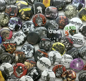 "Punk 20 1"" Pin Surprise Grab Lot!"