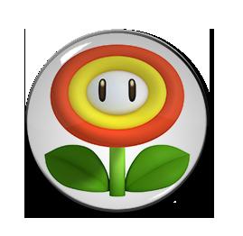 """3D Fire Flower 1.5"""" Pin"""