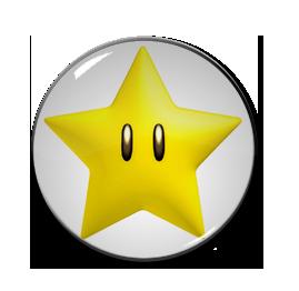 "3D Star 1.5"" Pin"