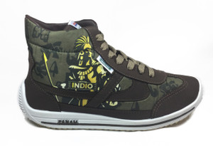 Panam - Indio Beer Hi-Top Brown Unisex Sneaker
