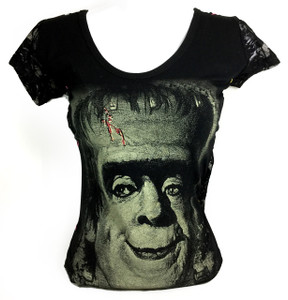 Resurrection - Herman Munster Womens T-Shirt with Mesh Sleeves