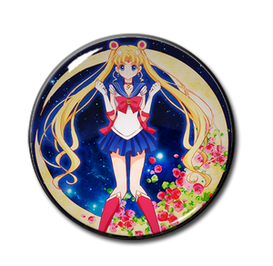 "Sailor Moon with Roses 2.25"" Pin"