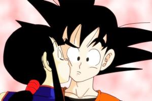 """Chi-Chi & Goku 12x18"""" Poster"""