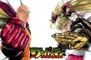 "One Punch Man Saitama & Natsuno 12x18"" Poster"