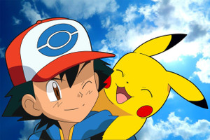 "Ash & Pikachu 12x18"" Poster"