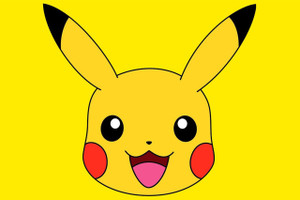 "Pikachu Face 12x18"" Poster"