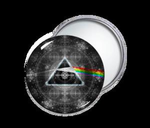 Pink Floyd's Dark Side of the Moon Round Pocket Mirror