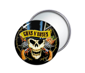 Guns N' Roses - Skull Round Pocket Mirror
