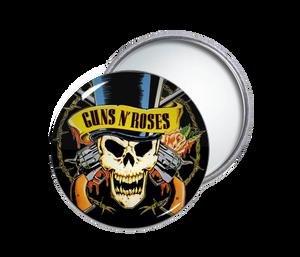 Guns N' Roses - Skull Round Pocket Mirror