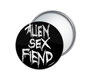 Alien Sex Fiend Logo Pocket Mirror