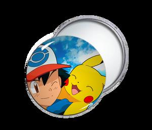 Ash & Pikachu Pocket Mirror