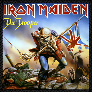 """Iron Maiden - The Trooper 8x8"""" Color Backpatch"""