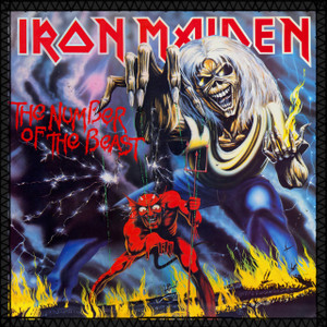 """Iron Maiden - The Number of the Beast 8x8"""" Color Backpatch"""