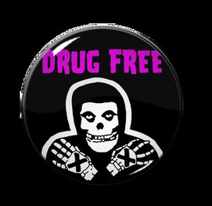 """Misfits Drug Free Fiend 1.5"""" Pin"""
