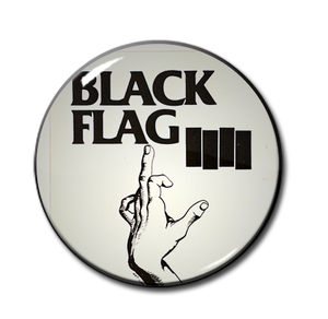 "Black Flag - My Life My Rules 1.5"" Pin"