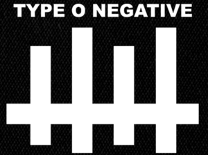"Type O Negative - Logo 5x4"" Printed Patch"