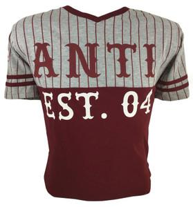 Antifashion -  Striped Retro Baseball Tee Style T-Shirt