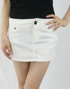 Lip Service - White Denim Skirt