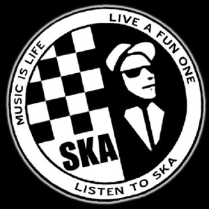 "Listen to Ska 5x5"" Printed Sticker"