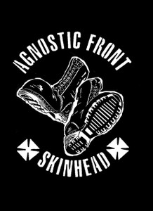 "Agnostic Front - Skinhead 5.5x4"" Printed Sticker"