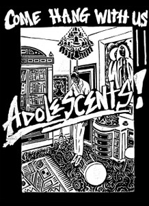 "Adolescents - Come Hang With Us 5.5x4"" Printed Sticker"