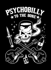 "Psychobilly to the Bone 5.5x4"" Printed Sticker"