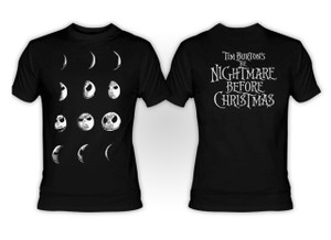 The Nightmare Before Christmas -  Jack as Moon Phases T-Shirt