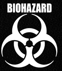 "Biohazard - Logo 4x6"" Printed Patch"